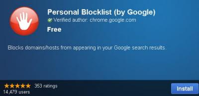 la nouvelle extension de google chrome contre le spam.
