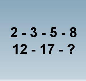 un test basé sur une série de nombres.