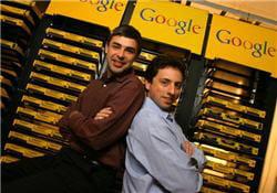 les deux fondateurs de google, larry page et sergey brin, en 2003