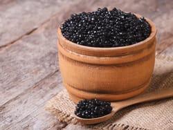 le caviar, un mets fort prisé.