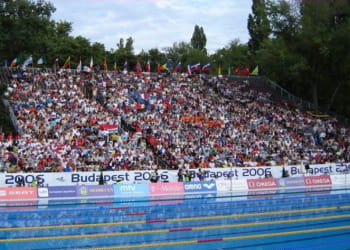 les championnats d'europe de natation à budapest en 2006.