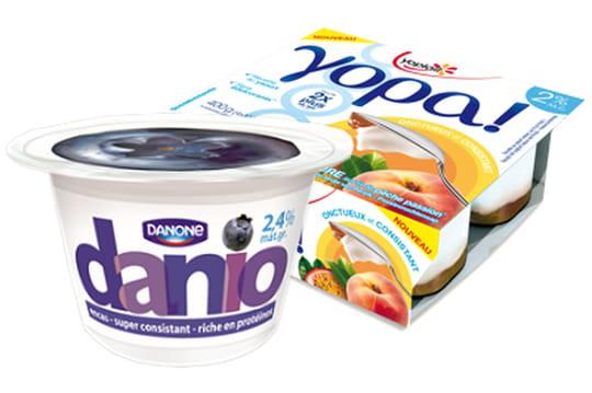 Danoneet Yoplait lancent la guerre du yaourt concentré