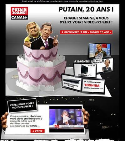 la campagne canal + 'putain 20 ans !'