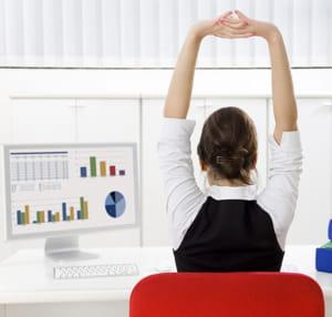 un petit étirement peut servir à vous mettre en condition, physiquement et