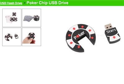 la poker chip usb drive