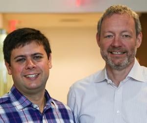 eliot horowitz et dwight merriman, co-fondateurs de mongodb.