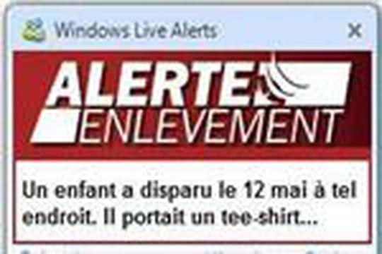 Alerte Enlèvement se diffuse sur le Web