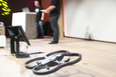 lors de la conférence organisée par microsoft, la démonstration d'un décollage