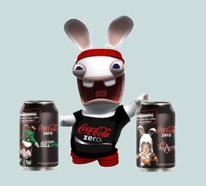les lapins crétins de coca cola zero.