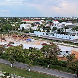 georgetow, la capitale du guyana.