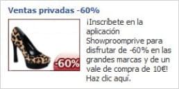 facebook ad de performads pour showroomprivé