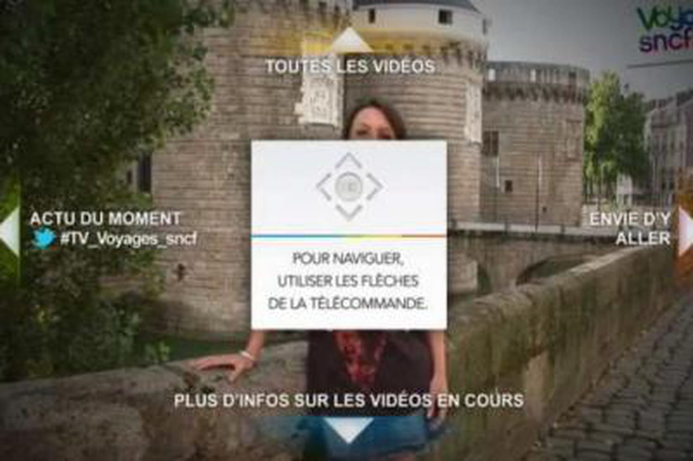 Voyages-sncf.com lance son application de TV connectée