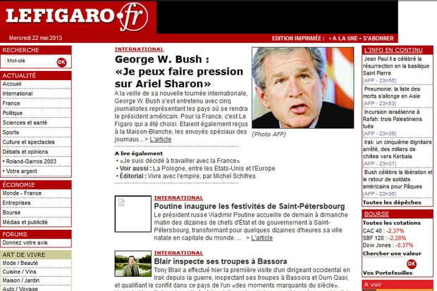 Le Figaro en 2003