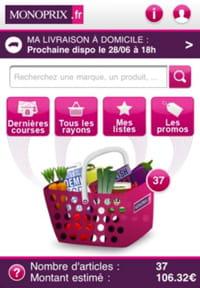 l'application m-commerce de monoprix