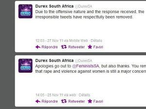 les blagues de la branche sud-africaine dedurex sur twitter n'ont fait rire