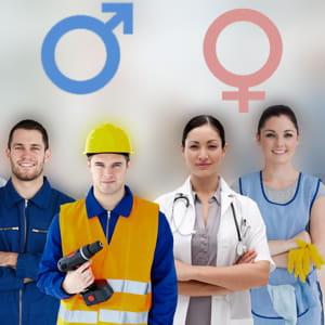 aux hommes, les métiers du bâtiment, aux femmes, ceux des services à la