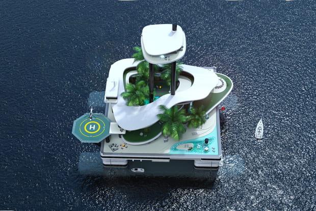 Un hôtel de luxe flottant