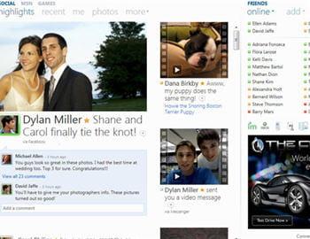 exemple de page personnelle windows live sur laquelle on regroupe l'actualité de