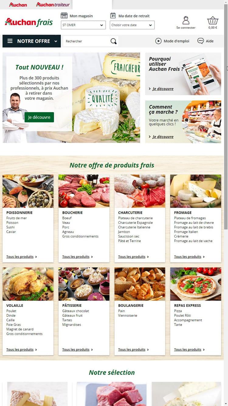 Les grandes ambitions d'Auchan pour l'alimentaire frais traditionnel en ligne