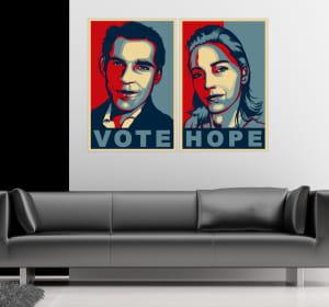 les portraits pop style 'obama', la dernière tendance des sites d'objets