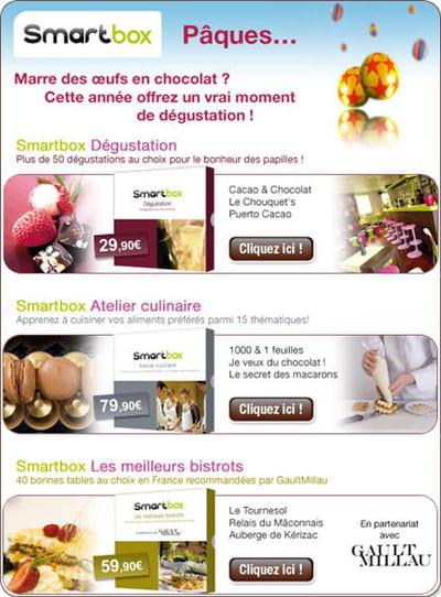 campagne smartbox réalisée pour pâques