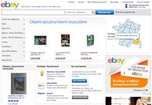 le site français d'ebay s'adosse à la même architecture que son grand frère