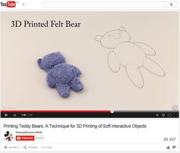 cet ours en peluche a été modélisé et imprimé en 3d.