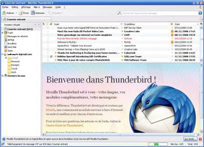 le client de messagerie thunderbird