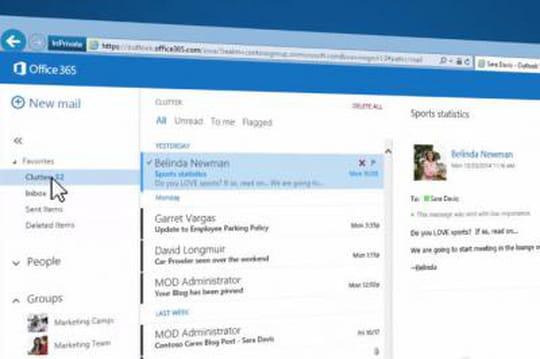 Tri des mails: Clutter activé par défaut dans Office 365en juin