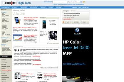 le site l'internaute high-tech en mode plein écran