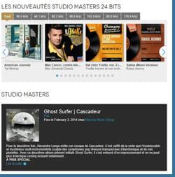 qobuz propose des albums au format 24 bits, avec une qualité supérieure à celle