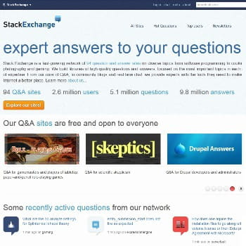 stack exchange, réseau de sites de questions-réponses