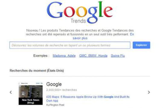 Analyse de mot clé : Google unifie Trends et Insights