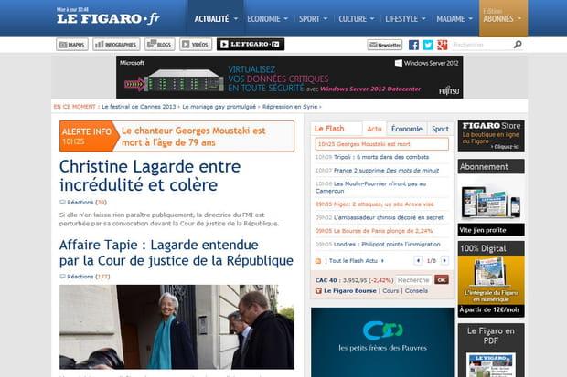 Le Figaro.fr en 2013
