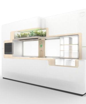 la 'cuisine verte' intégrée de whirlpool est censée préfigurer la cuisine de