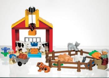 les briques lego duplo sont destinées aux enfants de 18 mois à 5 ans.
