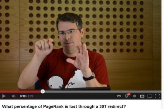 Google confirme qu'une redirection fait bien perdre du PageRank