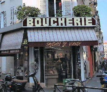 une boucherie francilienne.