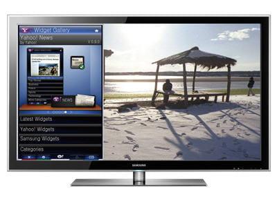 l'utilisation des widgets yahoo sur un téléviseur led8000 connecté