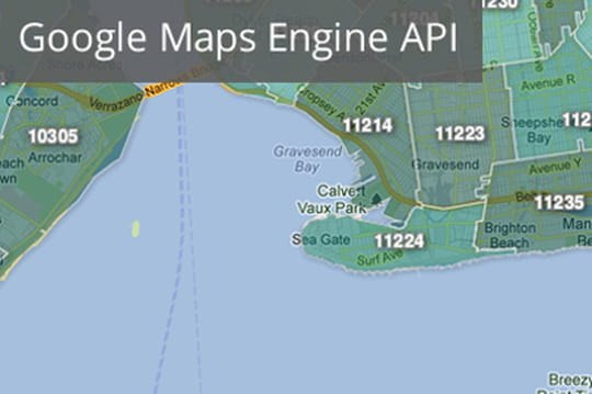 Google sort une API pour Google Maps Engine