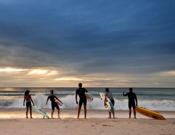 une plage australienne.