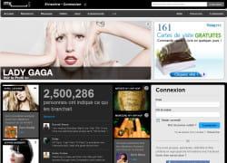 la page d'accueil de myspace