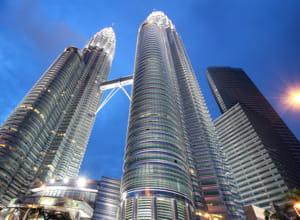 les tours jumelles petronas,  kuala lumpur en malaisie.