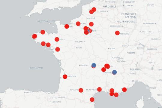 Intelligence artificielle en France: la carte des laboratoires
