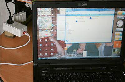 l'adaptateur est transportable dans toute la maison sur le même réseau