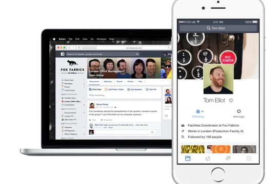 Facebook at Work: modèle tarifaire confirmé, lancement imminent