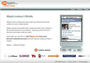 mippin est un lecteur de flux rss qui adapte aussi les pages web aux écrans de