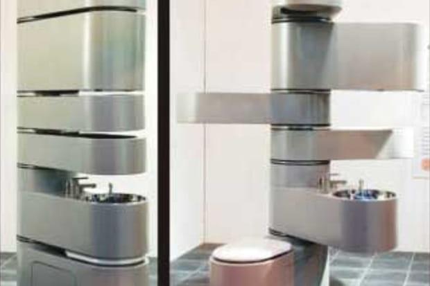 Salle de bain en colonne
