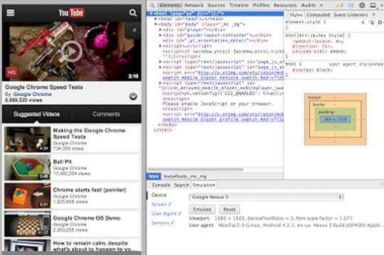 Chrome DevTools pour Mobile : le débogage d'apps mobiles dans Chrome