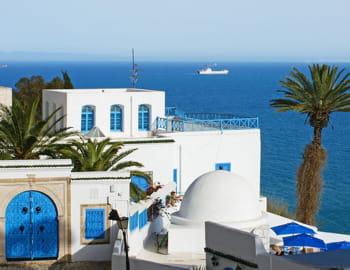une vue de sidi bou saïd, en tunisie.